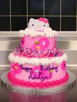 Hello Kitty birthday cake by ayarel