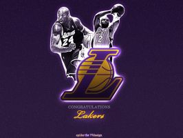 Congratz Lakers by SpiderIV