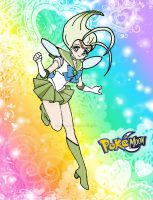 Celebi Pokemon Sailor Moon by kaoshoneybun