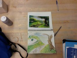 The Shire- watercolor preview by ShadowTiger10