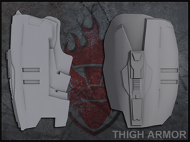 Thigh Armor Pep Package by ForgedReclaimer