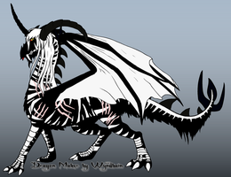 Black Curse Adult Dragon by dracosear