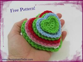 Many Hearts One Pattern by sojala