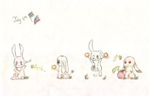 4th of July Bunnies by Pixiescout