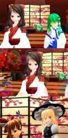 Beautiful (and Grumpy) Shrine Maiden of Paradise by Trouble-san