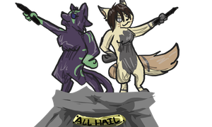 ALL HAIL by Neonfluzzycat