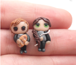 Handmade Katniss Everdeen peeta Melark earrings by MiniSweetx