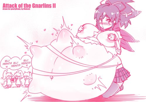 Attack of the Gnarlins II (pregnant) by MaBeelZ