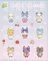 Animal Crossing Sticker Sheet Sample by dreamless-night-sky