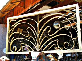 Decorative Gate Panel,finished by ou8nrtist2