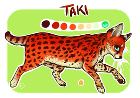Taki the Serval by AnneDyari