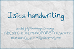 Isica handwriting font by stardixa-resources