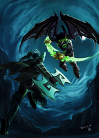 Phantom Assassin vs The Betrayer Crossover by BayneyJayney