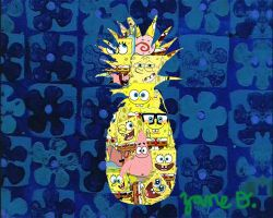 SpongeBob SquarePants Pineapple by TacomanZKD