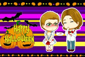 Happy Halloween from SPN! by b1r1