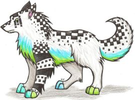 Checkered Wolf by shadows-of-hope
