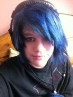 My hair is now blue. by AnthraxBlood