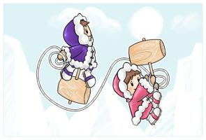 Ice Climbers II by pinkx2