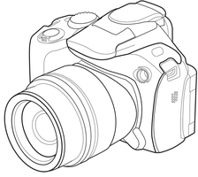 Camera Tech Drawing WIP by foolishmime