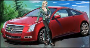 Tsunade and Her Ride_Commish by Moonshield4
