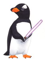 Penguin with Light Saber by alamedyang
