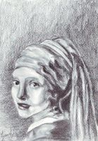 Girl with a pearl earring by ClairBlueArt