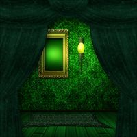 Green gothic interior by Lyotta