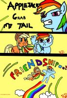 AppleJack Grab my Tail... by RealRainbowDash