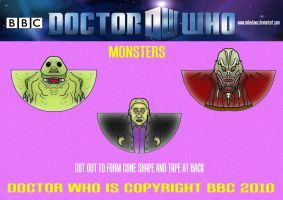 Doctor Who - Monsters 2 by mikedaws