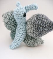blue moth amigurumi by e1fy