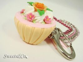 Floral XL Cupcake Bag Charm by SweetandCo