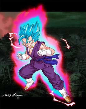 VEGETO SSJ Blue Kaioken - Dragon Ball SUPER by tech531