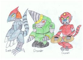 Scratch, Grounder, Coconuts redesigns. by KivaHoloTitan