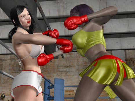 Commission: Guadalupe vs Yessica 05 by bx2000b