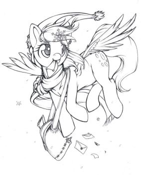 Derpy's Christmas delivery! by Longinius-II