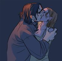 Snape and Lily makin out. by toerning