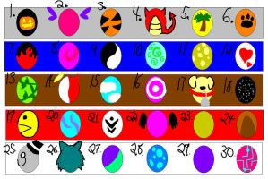 Egg Adoptables- OPEN- 3 LEFT by Sugarjlm