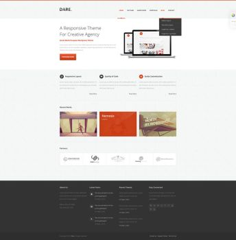 Dare - Clean and Modern HTML Template by Codeia