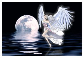 Crying angel _PSP and BG_ by Eliana-Prog