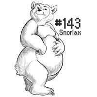 PKMN A DAY: Snorlax by the-b3ing
