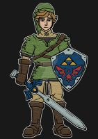 Hero In Green (LoZ T-Shirt) by ForrestAnthony