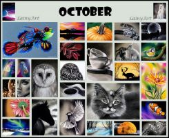 October's ACEO Cards for Charity by secrets-of-the-pen