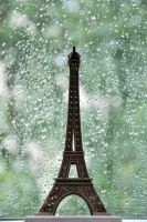 Eiffel Tower covered with rain by baiciurina