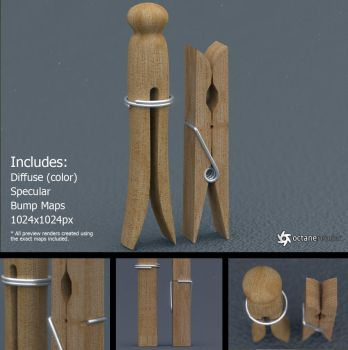 Clothespins (free 3D models) by LuxXeon