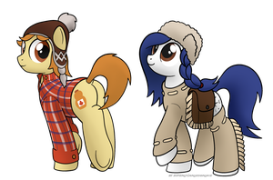 Quebec Bronies - Maple Styrrup and Mapelt Woods by SuperChargedBronie