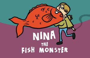 nina the fish monster by muzski