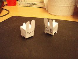 Paper model bunny by mclelun