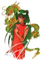 Setsuna and the Dragon by Rei-Helen