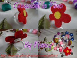 anello con fiore - ring with flower by FrancescaBrt