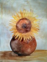 Sunflower Vase by JessicaSoulier